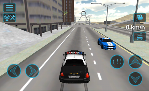 Fast Police Car Driving 3D screenshots 1