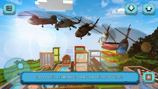 Helicopter Craft Jeu de vol et de construction screenshots 1