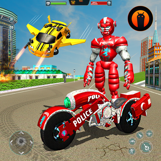Flying Robot Police Chase- City Fighter War Robots APK MOD